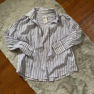 💄 NWT Windsor pinstripe button you blouse
